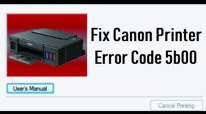 Fix Canon Printer Error Code 5b00