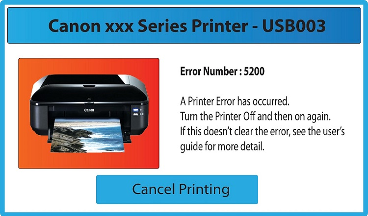 Fix Canon Printer Error 5200