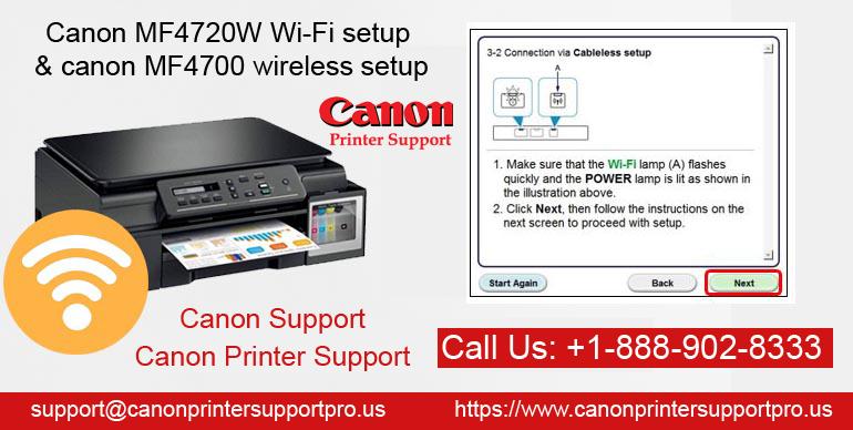 Canon MF4720W Wi-Fi setup and canon MF4700 wireless setup