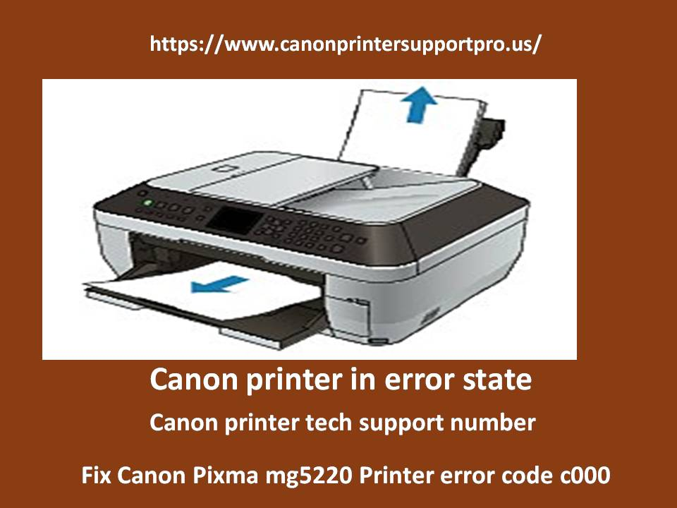 What are Steps to Fix Canon Pixma mg5220 Printer error code c000?